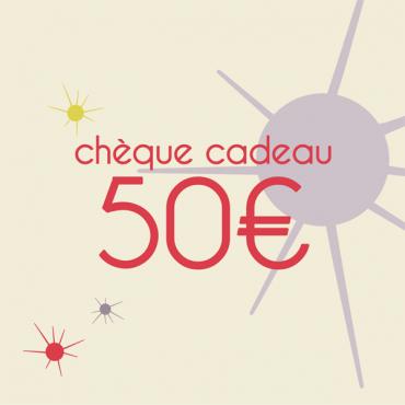 Chèque cadeaux de 50 Euros